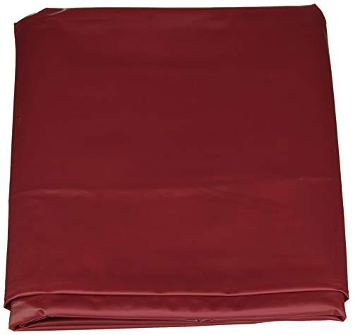 fancy Unisex-adulto scivoloso PVC Flat Bedsheet doble, Rojo