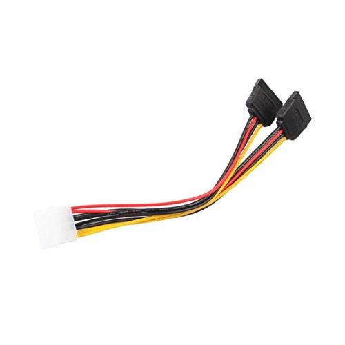 Shage 4Pin IDE Molex zu 2 ATA SATA Netzteil Y Splitter Festplattenlaufwerk Verlängerungskabel