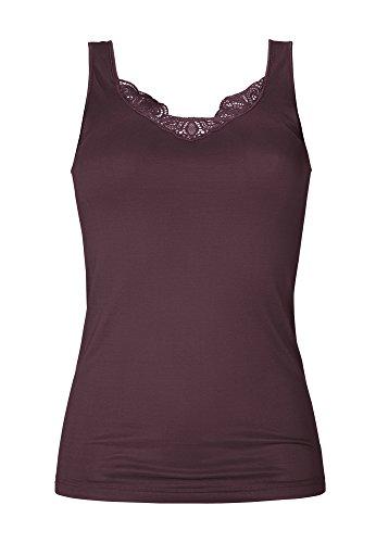 Mey Basics Emotion Elegance Damen Tops breiter Träger 55351 Dark Purple