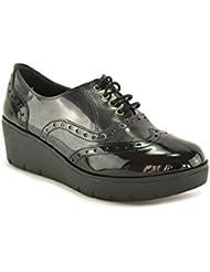 ConBuenPie by Chamby - New Collection - Zapato mujer Charol piel Negro y Burdeos