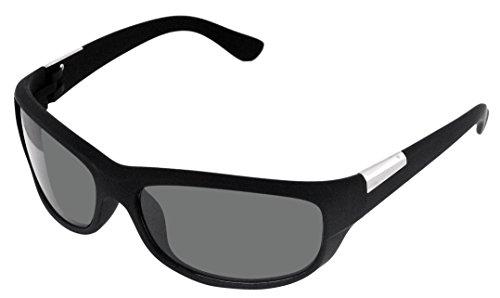 SHVAS UV Protection Unisex Wrap Around Sunglasses - Black Glass...