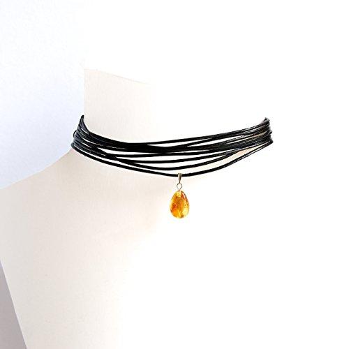 Guild Designer Kostüm - Träne Bernstein Halskette Halsband und Armband-Set