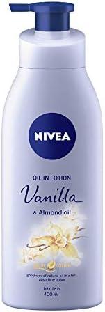 NIVEA Body Lotion, Oil in Lotion Vanilla & Almond Oil, For Dry Skin, 4