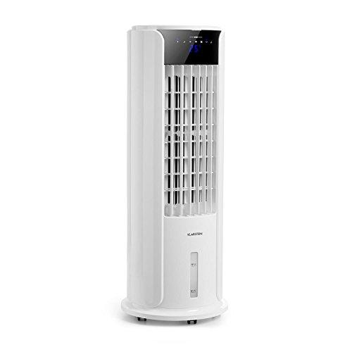 Klarstein Skyscraper Horizon • Luftkühler • Ventilator • Luftbefeuchter • 3-in-1 Klimagerät • 60 Watt • 486m³/h • 3,5 Liter • 45° Oszillation • 3 Betriebsmodi • Timer • inkl. Fernbedienung • weiß (Luftbefeuchter Anlage)