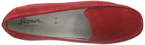 Sioux Zisia-161 Damen Mokassin Rot (Fire)