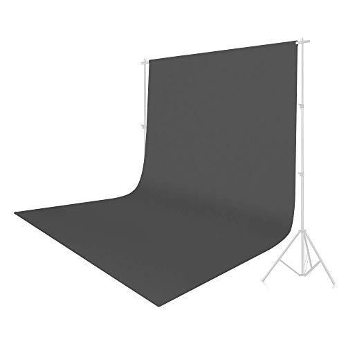 UTEBIT Backdrop Grau Weniger Falten Grey Background 1.8x2.8M/ 6x9ft Faltbare Fotostudio Stoff Hintergrund Maschinenwaschbar für Hintergrundstand, Modefotografie, Videoaufnahme