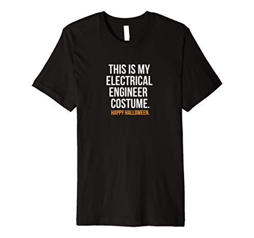 This Is My Elektrische Ingenieur Kostüm Funny Halloween Shirt
