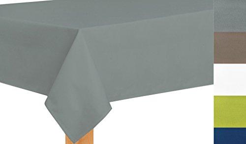 Tischdecke nach Maß, hochqualitative Wertarbeit , Maßanfertigung, Tischdecken, Tischläufer, Pflegeleicht, waschbar, Silbergrau (130x230cm)