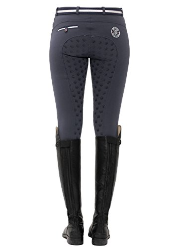 SPOOKS Reithose für Damen Mädchen Kinder, Voll-Grip-Besatz Reithosen Leggings Turnierreithose - bequem & stylisch Lucy Full Grip - Night Blue L