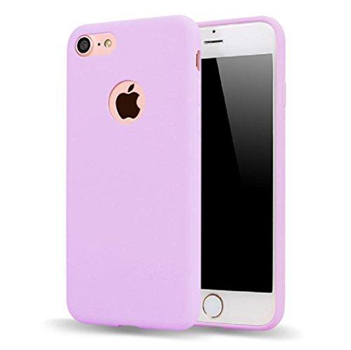MQMY telefono caso iphone7 case cover per iPhone7 leggero sottile durevole ultra-morbida TPU caramelle colore satinato liscia