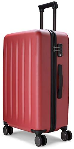 90FUN Trolley bagaglio a mano I Valigia rigida con lucchetto TSA I 55,5 x 37,5 x 22,3 cm I piccolo nero
