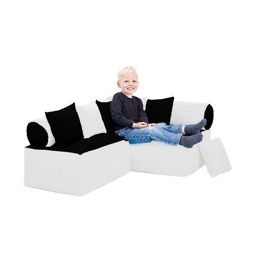 Kinder Möbel-sitzsack Ecke Sofa mit Kissen Lesen Sitzen, Erhältlich in 4 Farbe Kombinationen - Schwarz/weiß