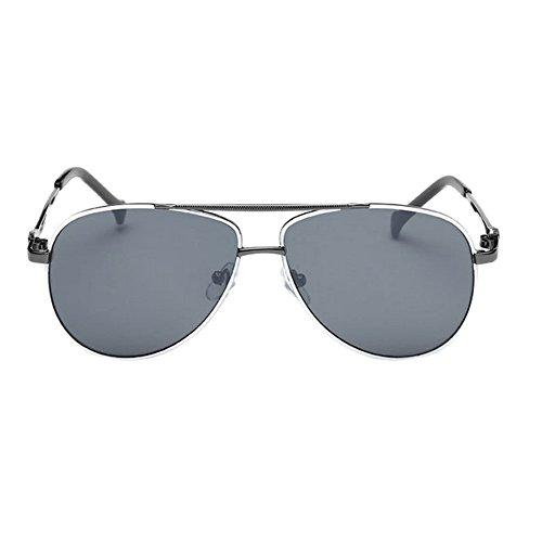 Haodasi Personnalité de la mode des lunettes de soleil de cadre en métal pour enfants gray