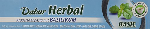 Dabur Ayurvedische Kräuterzahnpasta mit Basilikum, 100 ml