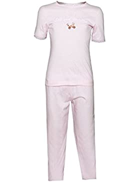 Kinder Schlafanzug für Mädchen Pyjama Süß und Verträumt Rosa Louis & Louisa