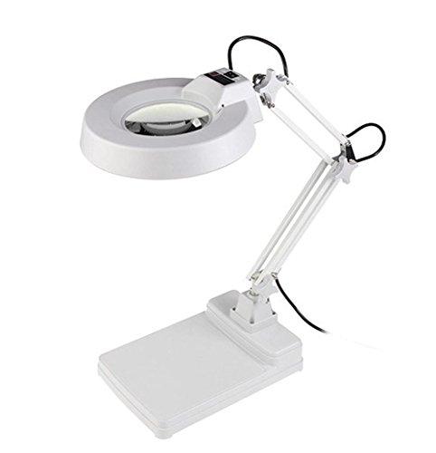 HRRH LED-Tischlupen-Tischlampe mit Einer Lupe, Um Den älteren elektronischen Wartungstest 10X Zeiten zu Lesen