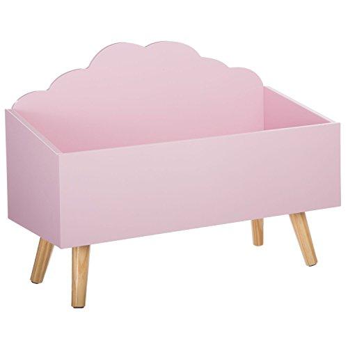 Baule per giocattoli - A forma di nuvola - Colore: ROSA