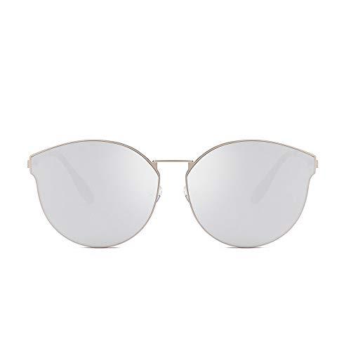 REALIKE Unisex Sonnenbrille Mode klare Linse Gläser Metall Brillengestell High-Mode Unregelmäßig Sunglasses Übergroße High-definition okular Travel Eyewear (Farbe : A-F)