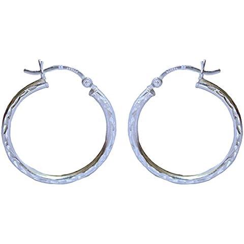 TIBETAN Silver-Ciondolo in argento Sterling 925, con diamante taglio rotondo, 2,5 CM x 2,5 CM, con orecchini a cerchio da donna - Sterling Silver Turquoise Coral