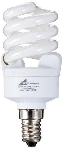 TRIO-Leuchten 974-11 Energiespar-Leuchtmittel, ESL - E14, 11W, Spiral, 2700K -