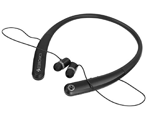 Zebronics Journey Wireless Bluetooth Headset | Magnetic Earpeice | Dual Pairing | with Mic (Black)