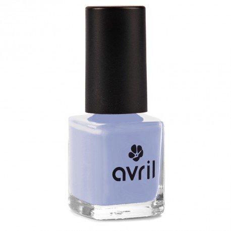 AVRIL - Vernis à Ongles Vegan Sans produits Chimiques - Bleu Layette 630 - Application Facile, Non Testé sur les Animaux - 7ml