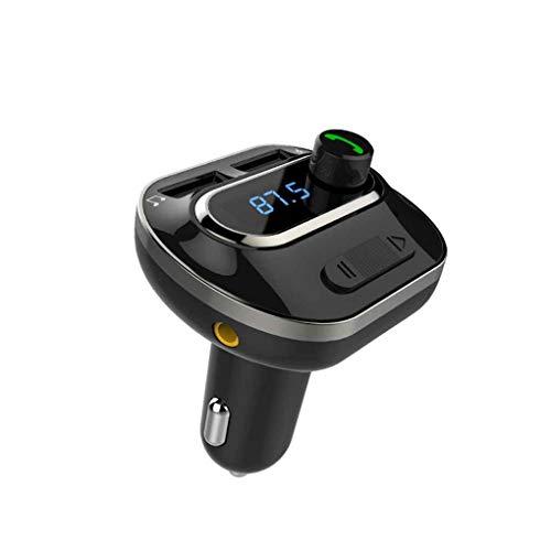 Cdrox T19 Cargador para Coche Bluetooth Manos Libres Bluetooth Llamada de Cabina de Cigarrillos más Ligero Reproductor de MP3 Auto MP3