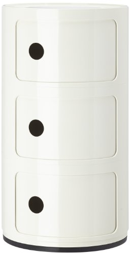 Kartell Componibili Round Storage Unit, 3 Drawer - White