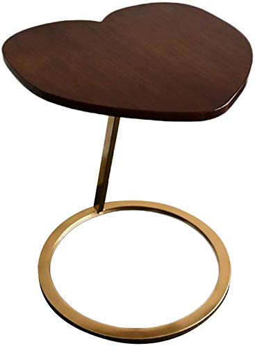 WEIZI Solid Wood Coffee Table, Creative Love Type Several Sides Corner A Few Small Tea Table Iron Art Sofa Table Notebook Computer Desk 45 * 45 * 60CM Durable (Color : #1)