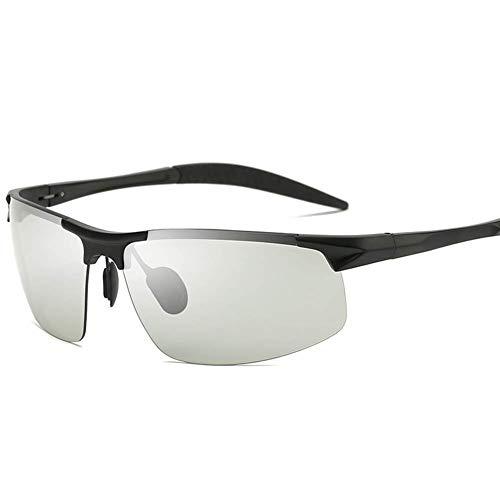 JFFFFWI Herren Retro Classic Trendy Photochromic Sonnenbrille mit polarisierter Linse Outdoor UV-Schutz, zum Fahren Angeln Golf Beach Baseball Sport