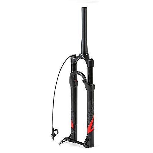 """LIDAUTO Mountain Bike Bicycle Fork 27.5""""29"""" MTB Control Remoto Ajustable Presión de Aire Amortiguador Freno de Disco,Red,27.5in"""