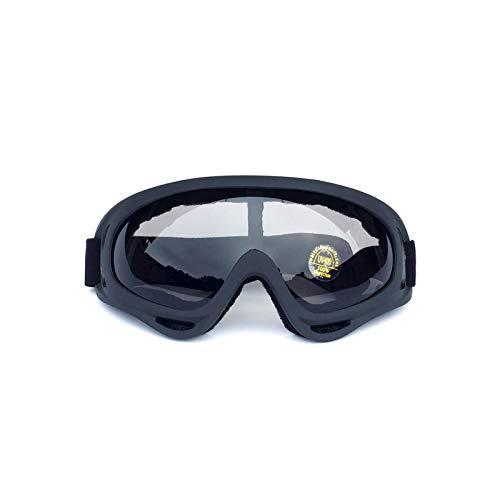 KnSam Winddicht Uv-Beständig Schutzbrille Chemie Kratzfester Scheibe Panoramablickfeld Schwarzgrau Schutzbrille