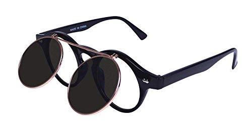 Bristol Novelty BA234 Steampunk Brille, unisex - erwachsene Schwarz Einheitsgröße