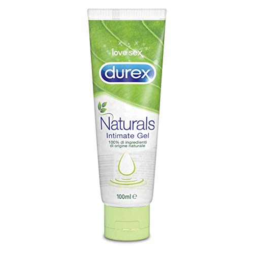 Durex Naturals Gel Lubrificante Intimo con 100{5ba1ddbbd35a86e9ae7d7010875bf27c1246514db6c573bc31b48c9d6eccb125} Ingredienti Naturali, 100 ml