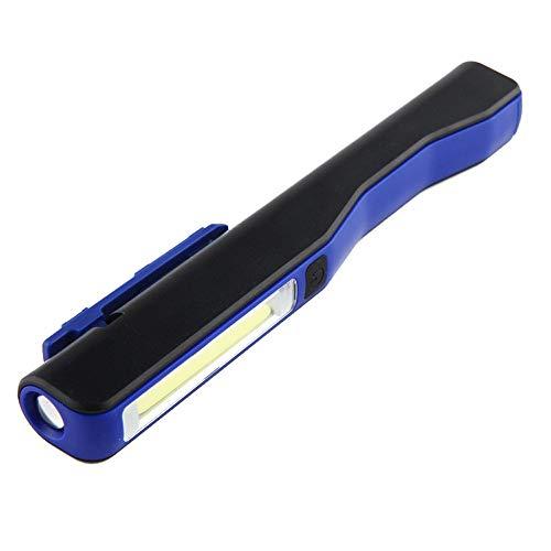 HMY LED Camping Lanterne, Luce COB LED USB della Clip del Lavoro Verificare Luce della Torcia Elettrica con Magnetico Illuminazione A LED Luce di Emergenza,Blu