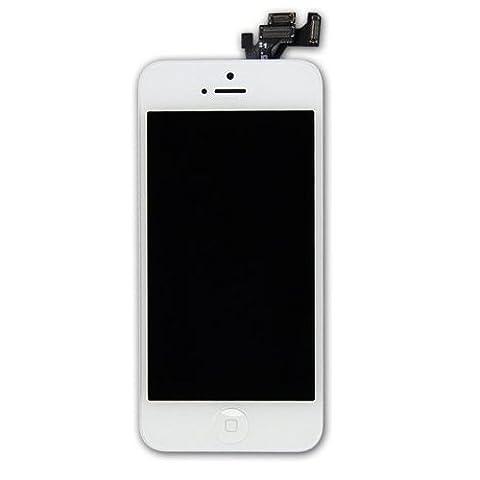 YFC® iPhone 5 LCD Display Weiß + Touchscreen Bildshcirm Digitizer + mit Homebutton + Kamera