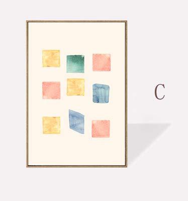 XWArtpic Moderne Abstrakte Geometrische Aquarell Drucke Poster Leinwand Gemälde POP Wandkunst Bilder für Geschenk Kinderzimmer Einrichtungsgegenstände 30 * 40 cm