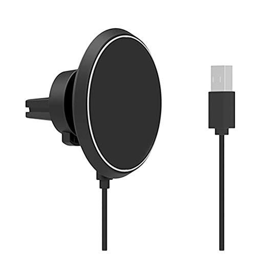 UKCOCO W3 Caricatore Wireless Qi Magnetico, girante a 360 Gradi per Prese d'Aria per Auto Supporto per Telefono Cellulare Compatibile iPhone 8 X Samsung Galaxy S6 S7 S8 Plus