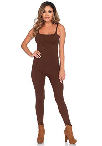 shoperama Basic Catsuit für Damen-Kostüme von Leg Avenue Kostüm-Zubehör Jumpsuit Overall, Farbe:Braun, Größe:S/M