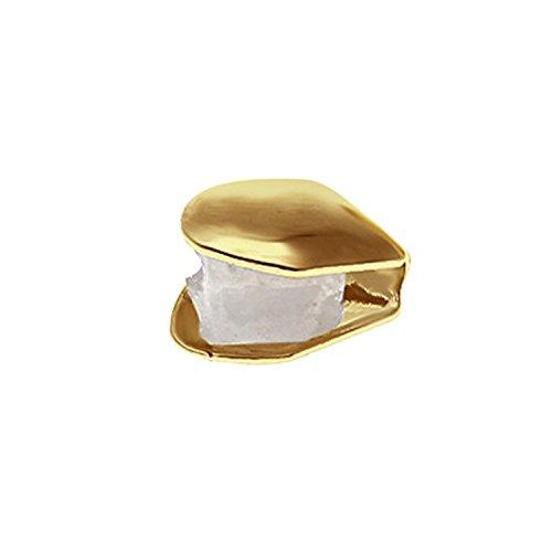 Fashion tragbar Top Bottom Zeile Zähne-Kappen Set plated-gold Hip Hop Stil ZAHN Grill Gap Kit Golden a