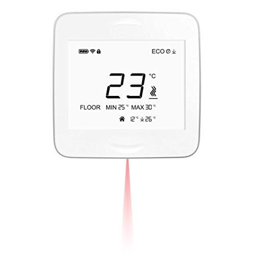smartheat roomunit mit IR Boden Temp Sensor-Smart Wireless Thermostat. Für Haushalte mit Fußbodenheizung Wasser heizungssysteme. Funktioniert mit smartheat CONTROLUNIT. -