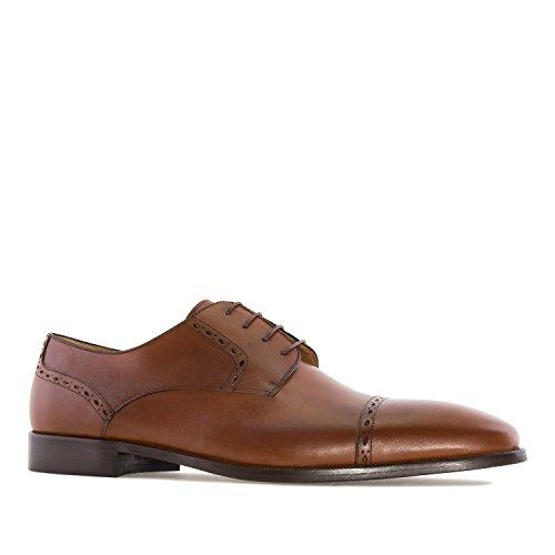 Andres Machado AM6184.Chaussures en Cuir Noir.Grandes Pointures pour Hommes. 47/50.Made in Spain