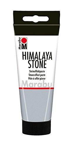 Marabu 12630050167 - Opake Steineffektpaste, Himalaya Stone, auf Wasserbasis, sehr gut deckend, schnell trocknend, zum Spachteln auf Holz, Pappmache, Styropor und Leinwand, 100 ml, beton hell