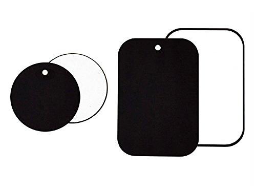 mytk Confezione di 4piastre in metallo Kit per Auto magnetica supporto e magnete cruscotto parabrezza & Vent Porta, 3m adesivo, 2Round 2rettangolo.