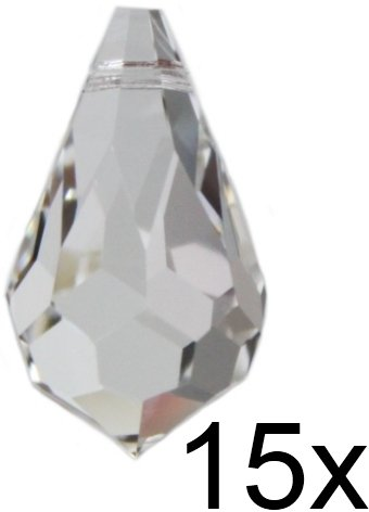 475bf961cfc3c6 Original premium CRYSTAL © Set 15 Piece CRYSTAL Drops 20 MM-Spectra CRYSTAL  from Swarovski