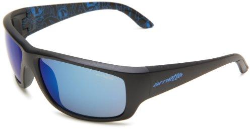 Arnette Herren Sonnenbrille Cheat Sheet, matte black/blue mirror, AN4166-06,