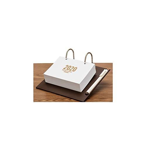 Schön und zart Kalender Home Decoration for Desktop-Kalender 2020 Kalender Kreative Einfaches kleines frische Studenten Desktop Office Heftiges Papier Hinweis Kalender 365 Tage Tagesplaner Punch-Edito