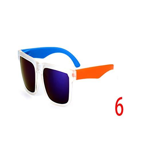 Sport-Sonnenbrillen, Vintage Sonnenbrillen, Sunglasses Men Sun Glasses Reflective Coating Square Spied For Women Rectangle Eyewear Gafas De Sol 6