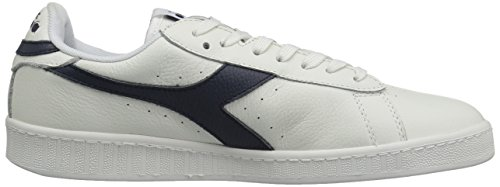 Diadora Game L Low Waxed Femmes Synthétique Baskets White-Dress Blues-White