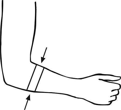 bort 022500SP EpiContur Sport Bandage bei Tennisarm, rechts und links gleich, Universal, schwarz